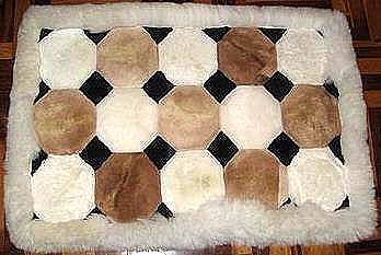 Alpaca fur rug from Peru,carpet of 39 x 23.6 inches