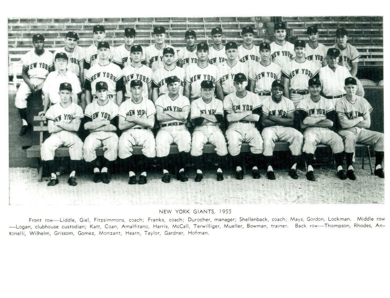 1955 NEW YORK GIANTS 8X10 TEAM PHOTO BASEBALL PICTURE NY MLB