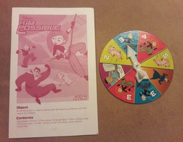Disney Kim Possible Board Game Replacement Pieces Parts Spinner & Instructions - $8.59