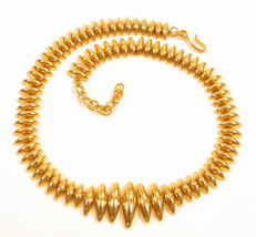 Signed Monet Vintage Gold Plated Long Oval Shaped Links Necklace *17.25*... - $42.56