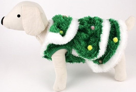 Christmas Tree - Decorated Plush Spruce with Ornaments  - Dog Costume - $48.98 - $54.98