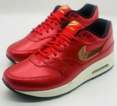 NEW Nike Air Max 1 Sequins University Red Gold CT1149-600 Men's Size 10 - $148.49