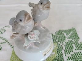 Vintage Otagiri Porcelain Musical Bird Figurine