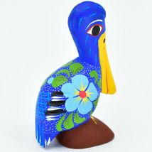 Handmade Alebrijes Oaxacan Copal Wood Carving Painted Folk Art Pelican Bird image 4