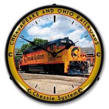 Retro Nostalgic Chessie System Train Railroad 3802 RR Lighted Backlit Wa... - $129.95