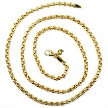 9K YELLOW GOLD CHAIN ROLO CIRCLE LINKS 3.5 MM THICKNESS, 24 INCHES, 60 CM image 4