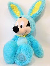 Disney Mickey Mouse Scented Plush in Blue Easter Bunny Rabbit Teal Costu... - $39.99