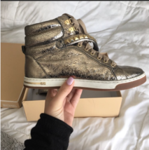 Michael Kors 8 Studded Gold Sneakers - $79.00