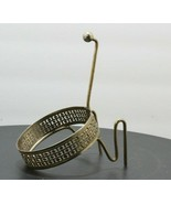 Vintage Mid Century Modern Chip and Dip Brass Bracket Dip Bowl Holder filigree  - $24.25