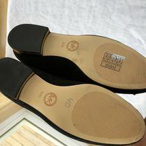 Michael Kors Femmes Chaussures Noir en Cuir Caoutchouc Semelle Broderie Size 6.5 image 10