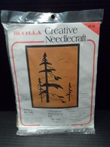 Crewel Embroidery Stitchery Kit Tree Tops Bucilla Creative Needlecraft #1748 - $37.36
