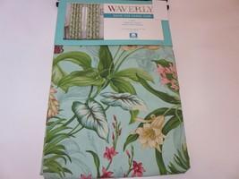 2 Waverly Wailea Coast Back Tab Panels Drapes Curtains 96inch Length Aqua - $93.07