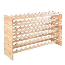 Wooden Bottle Rack Wine Display Shelves for 72 Bottles - €93,80 EUR