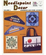 Handbags and Home Accents Totes Clocks Needlepoint Decor Plastic Canvas ... - $2.67