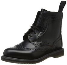 Dr. Martens Women's Delphine Fashion Boot (8|Black Polished Smooth Leather) - $186.84