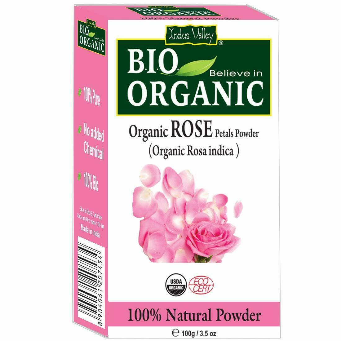 Indus Valley 100% Organic Rose Petals Powder