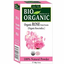 Indus Valley 100% Organic Rose Petals Powder image 1
