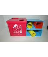 Johnson & Johnson Stack & fit square red cube shape sorter building blocks  - $17.81