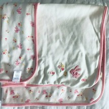 GYMBOREE VINTAGE 2013 EASTER PINK RABBIT BUNNY/ FLOWERS  REVERSIBLE BABY... - $34.65