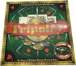 Tripoley Special Edition Turntable 2000 Game Hearts Poker Michigan Rummy... - $35.00