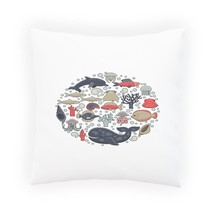 New Marine Life Rounded Pillow Cushion Cover l126p - $225,29 MXN+
