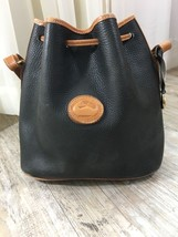 Vintage Dooney Bourke Black Leather Shoulder Ba... - $94.05