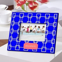 PERSONALIZED GRECIAN BLUE PICTURE FRAME - $36.83