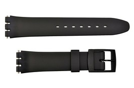 Swatch Replacement 17mm Plastic Watch Band Strap Black - $10.95