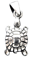 Turtle Pendant Charm Small size  Sterling silver MS069 - $9.50