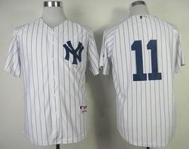 Men's New York Yankees 11 Brett Gardner White Stitched Baseball Jersey  - $778,31 MXN