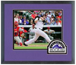 Justin Morneau 2014 Colorado Rockies - 11 x 14 Team Logo Matted/Framed Photo - $42.95