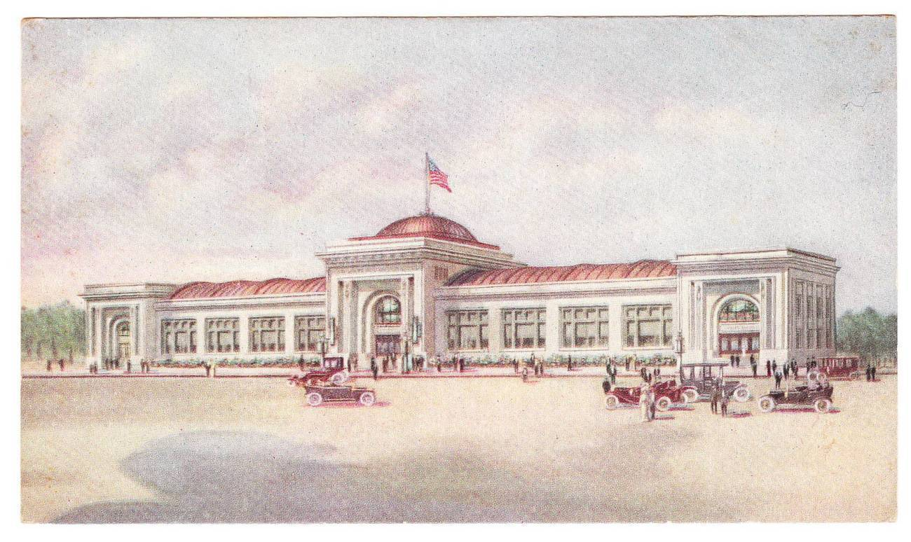 Postcard watkins administrtion building winona mn