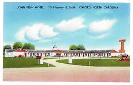 Postcard john penn motel oxford nc thumb200