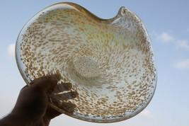 "Modern XXL Heavy Murano Glass Bowl Hand Blown 3Kg Excellent 14"" - $55.74"