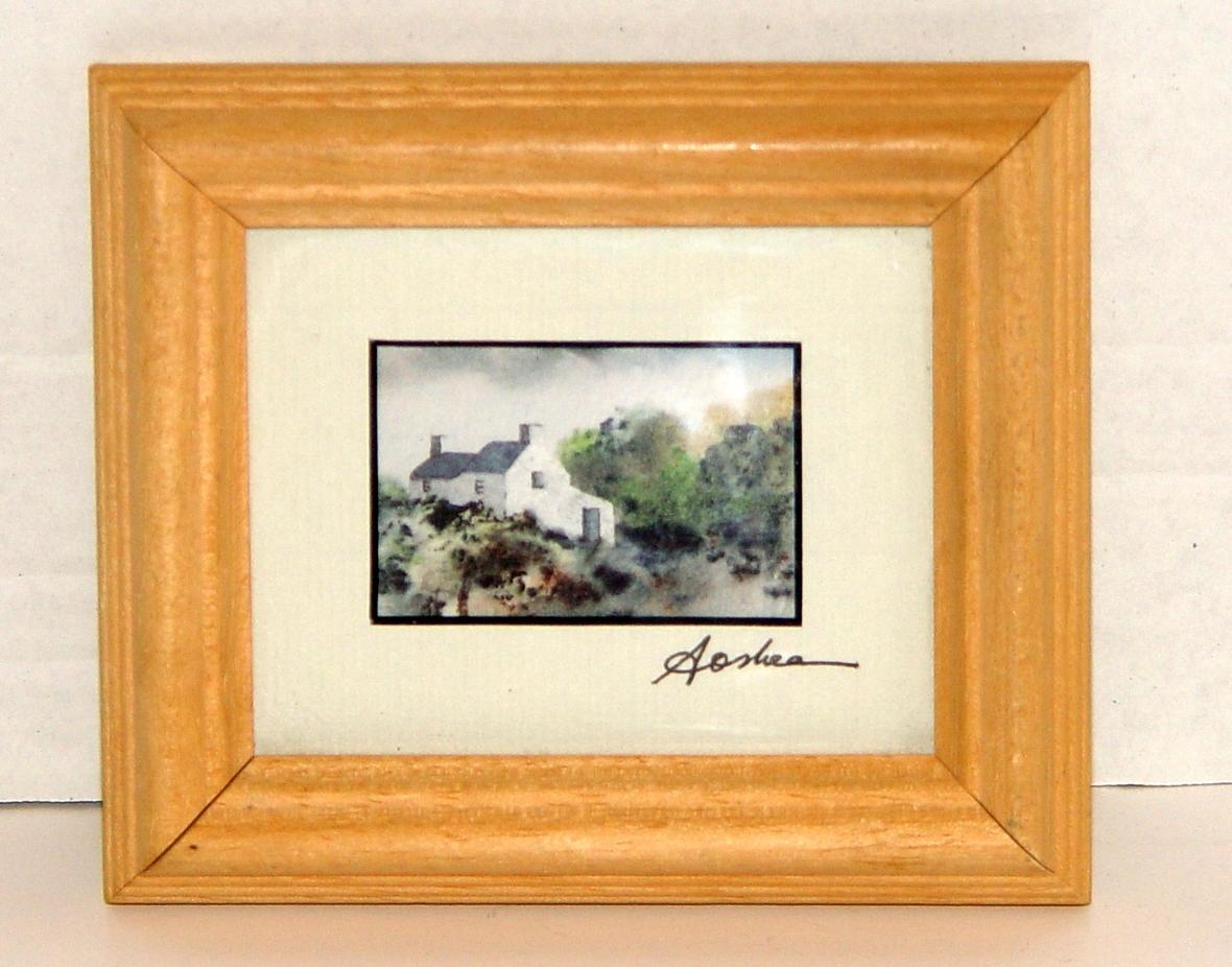 Miniature Views Of Ireland Original Framed Watercolor by A. O'Shea