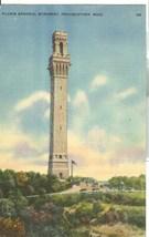 Pilgrim Memorial Monument, Provincetown, Mass, 1947 used linen Postcard  - $4.99