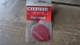3 NEW Vintage Dart Flights RED MARATHON HARROWS - $2.96
