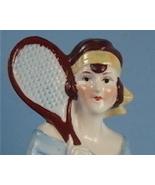 Big German Flapper Tennis Player Half Doll - $145.00