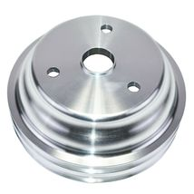 Chevy Small Block Long Water Pump Double Groove Aluminum Crankshaft Pulley image 9