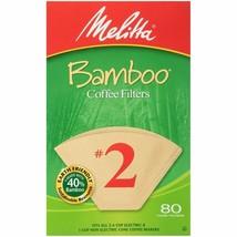 Melitta #2 Super Premium Cone Coffee Filters, Bamboo, 80 Count - $8.85