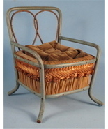 Antique Woven Straw & Wood Doll Size Pincushion... - $45.00