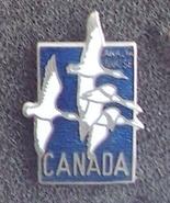 Old Canada Postage Stamp Geese Cloisonne Lapel Pin Pinback - $7.00