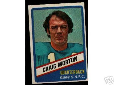 Wonder Bread football card #1 Craig Morton 1976