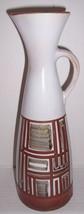 1960's LAPID Israel Retro Designed Slender Ceramic Vase- Signed D - $60.79