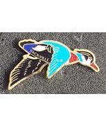Old Blue Back Teal Duck Cloisonne Lapel Pin Pinback - $5.00