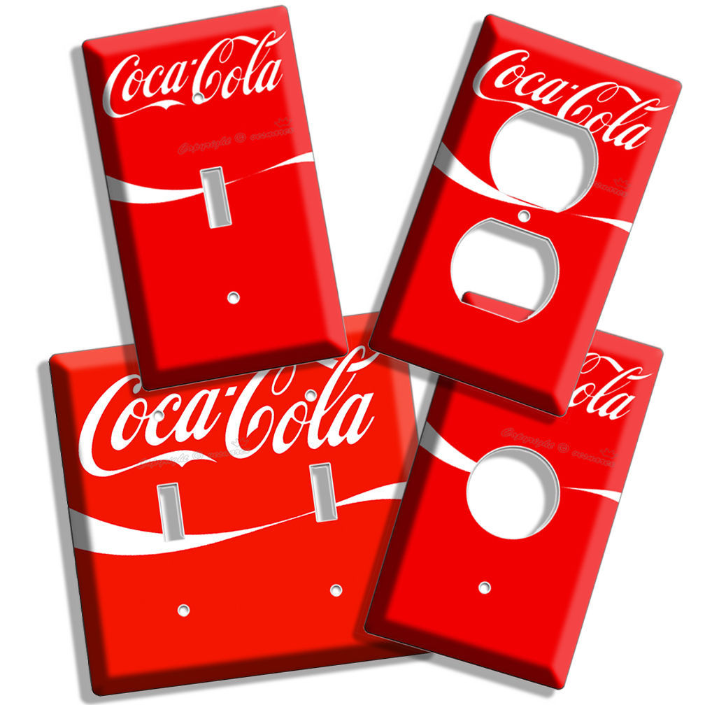 Http Www Bonanza Com Listings Red Coke White Wave Coca Cola Light Switch Outlet Wall Plate Combo Kitchen Decor 163580983