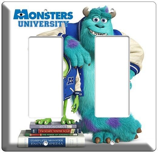 MONSTERS UNIVERSITY MIKE SULLY LIGHT SWITCH COVER OUTLET BOYS ROOM DECOR COMBO