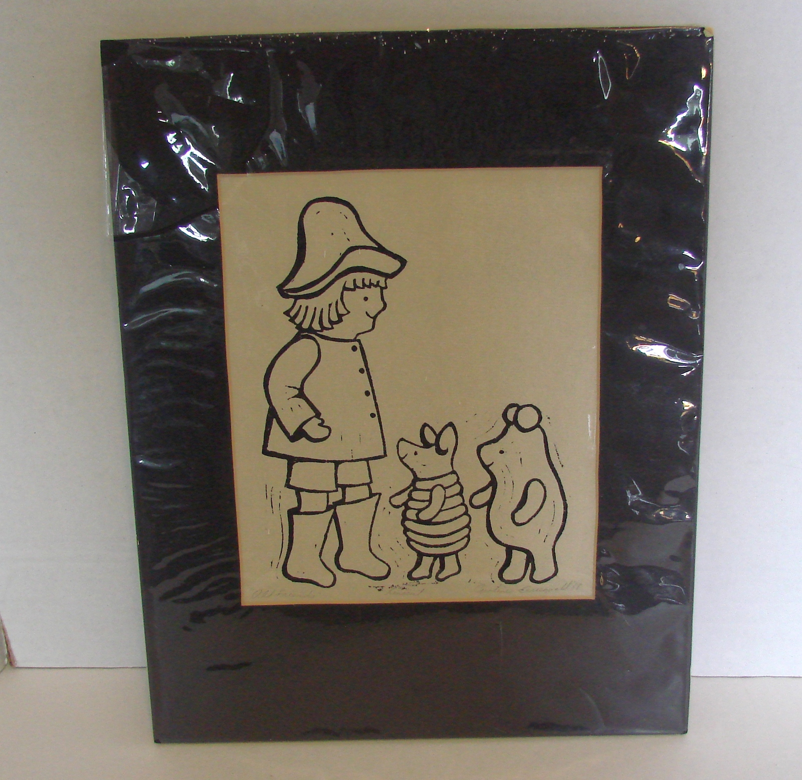 Primary image for  Signed and Matted Caroline Greenwald Linocut Print