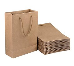 Sdootjewelry Kraft Paper Bags, 50 Pcs Brown Paper Gift Bags with Handles, 7.5 x