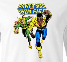 Power Man Iron Fist T-shirt Marvel Comics Luke Cage 100% cotton long sleeve tee image 1